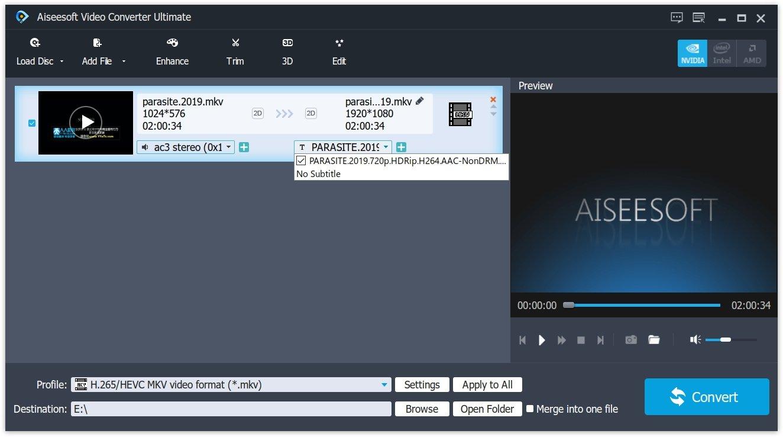 Add subtitle to MKV file