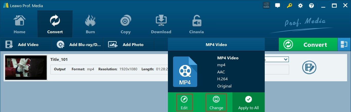 Custom Output Video Settings