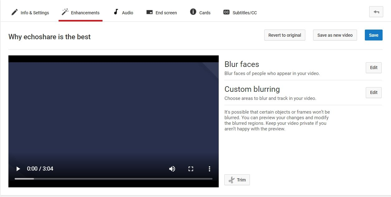 No Rotate Buttons in Enhancements Tab of YouTube Creator Studio Classic