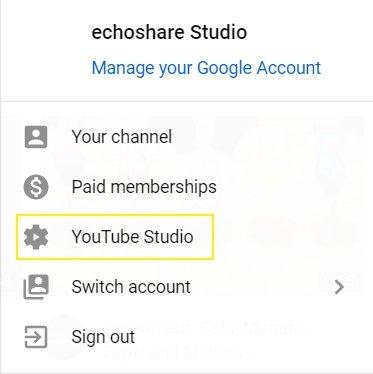 Go to YouTube Studio Beta