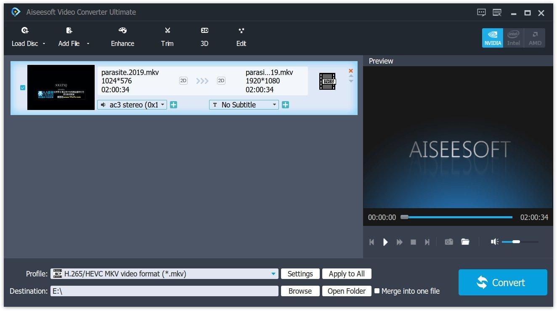 import MKV to Video Converter