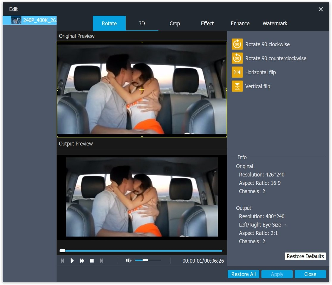 Rotate Video with Video Converter Ultimate