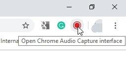 Chrome Audio Capture Icon