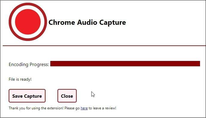 Chrome Audio Capture Save File