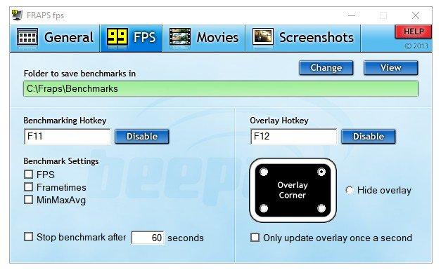Fraps 99FPS Settings