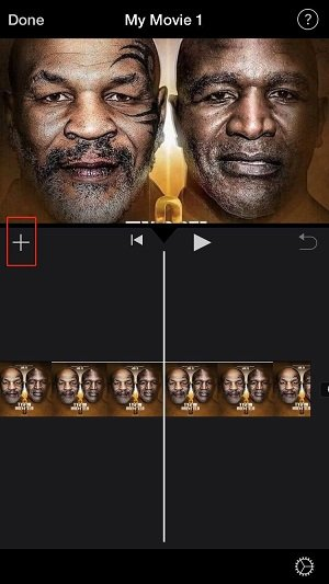 iMovie iPhone Add