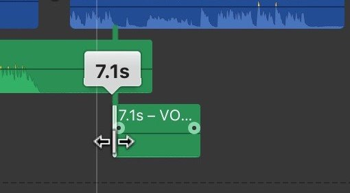 iMovie Set Voiceover Fade in Fade out