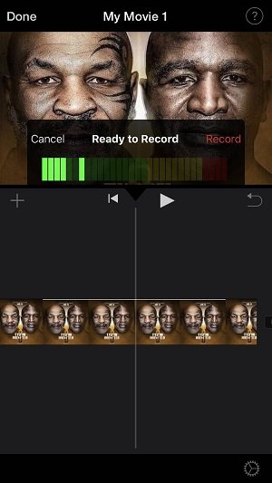 iPhone iMovie Ready To Record