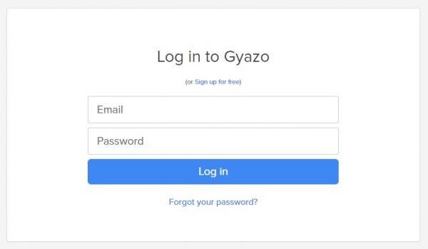 Log In Gyazo