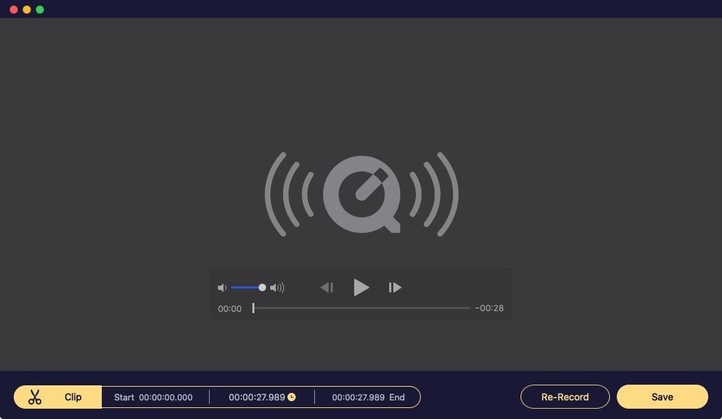 Mac Audio Recorder Trim Save Audio