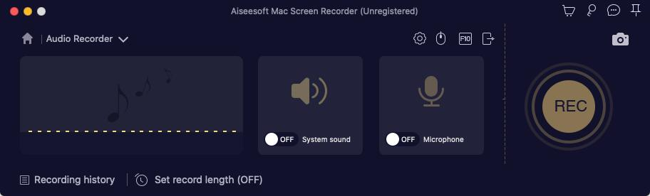 Mac Screen Recorder Record Audio