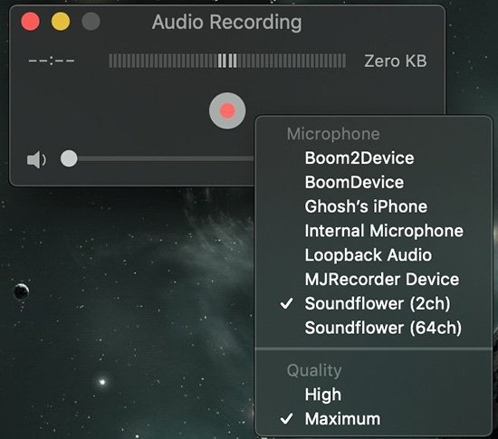 Record System Sound on Mac with QuickTime