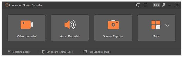 Aiseesoft Screen Recorder Chrome Screenshot