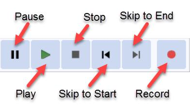 Audacity Buttons Record Play Stop Pause