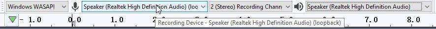 Audacity Windows WASAPI Speaker