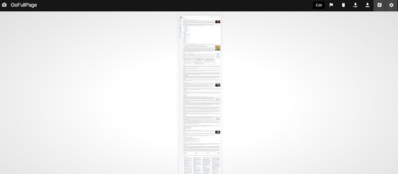 Chrome Entire Webpage Screenshot Preview