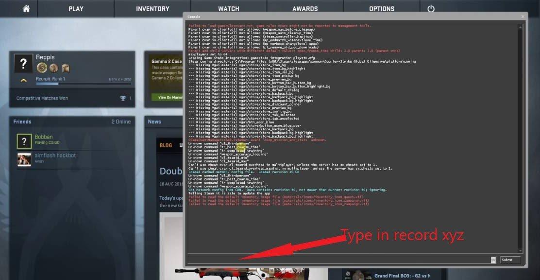CS GO Demo Open Console