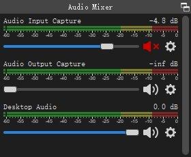 Mute Audio Input Mixer