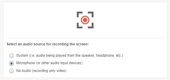 Screen Recorder Choose Audio