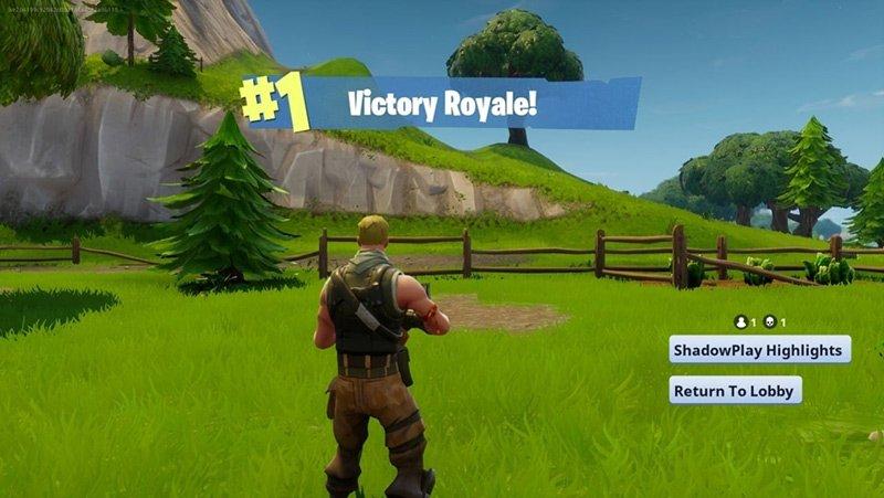 ShadowPlay Highlight Record Fortnite Victory