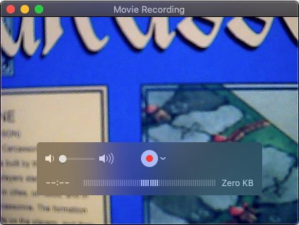 Start Webcam Recording with QuickTime Player