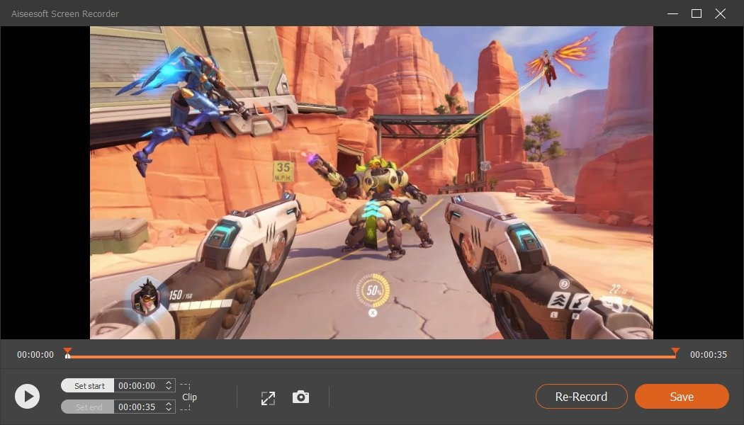 Aiseesoft Screen Recorder Record Overwatch