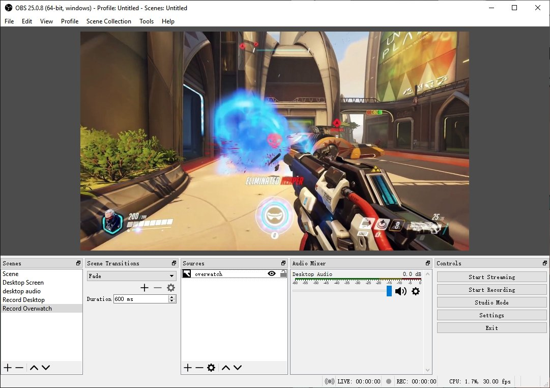 OBS Record Overwatch
