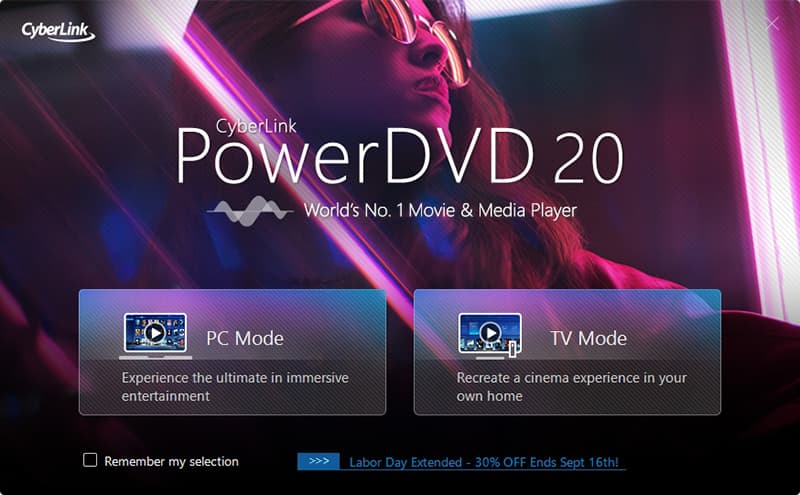 PowerDVD Blu Ray Player