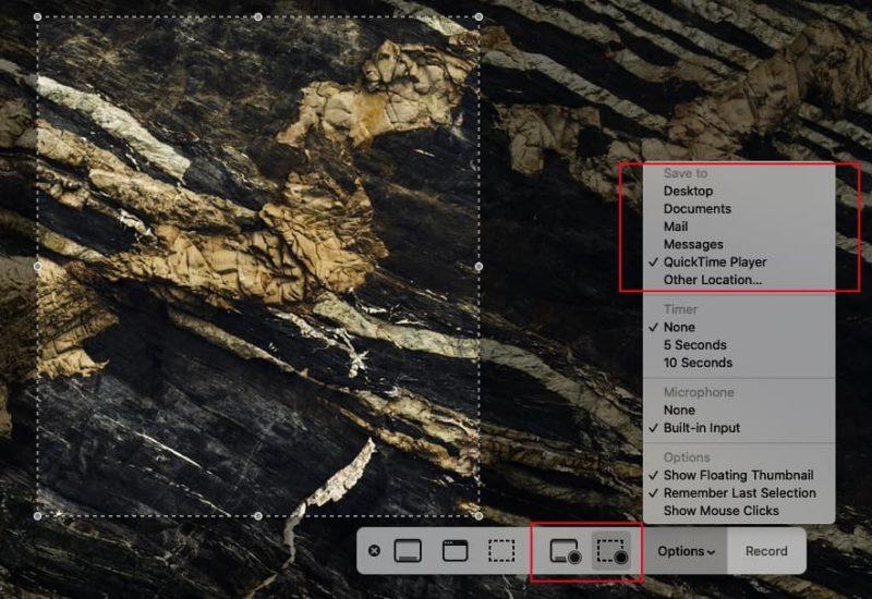 QuickTime Decide Destination for Recording Mac