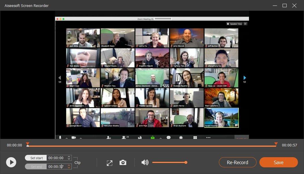 Edit Save Meeting Video