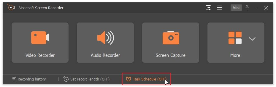 Screen Recorder Task Schedule Record A Meeting