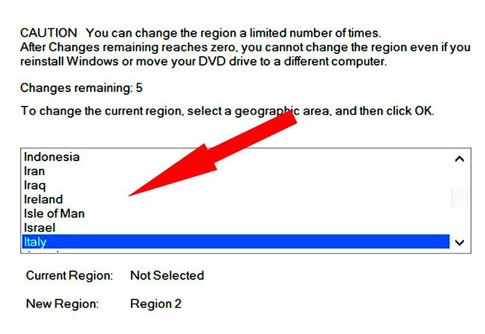 Change Region Code for DVD Drive