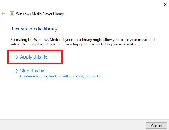 Fix Windows Media Player Not Open File