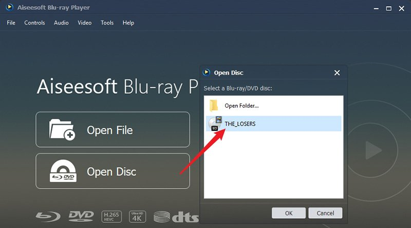 Open Blu-ray Disc on Aiseesoft Blu-ray Player