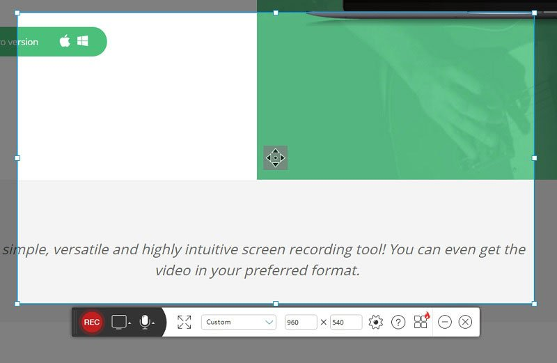acethinker screen recorder interface