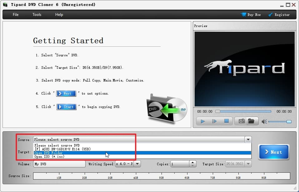 Choose ISO DVD Folder to DVD