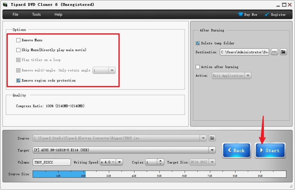 Start to Create A New DVD