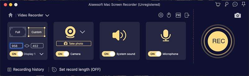 video recorder in mac screen recorder