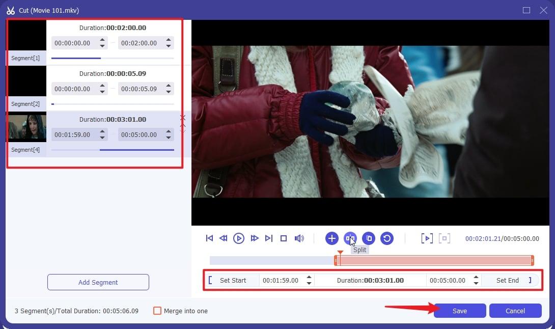 Spliting 4.7GB Video File Fit in Disc