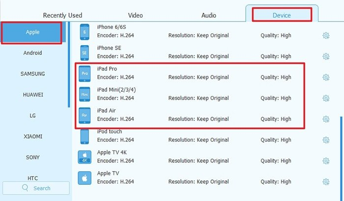 Rip DVD for iPad Decide Format
