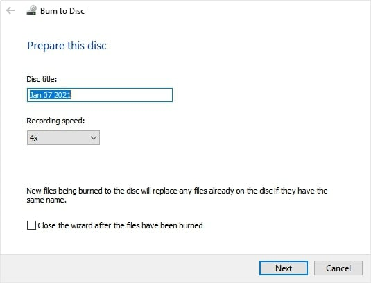 Start to Burn DVD with VLC