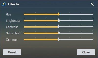 Aiseesoft Blu-ray Player Adjust Blu-ray DVD Video Effect