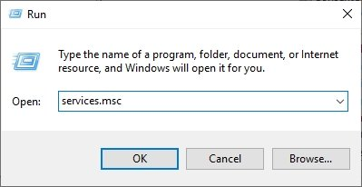 Open Services Windows on PC