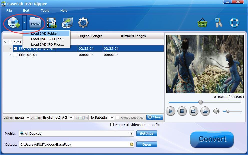 EaseFab Add DVD