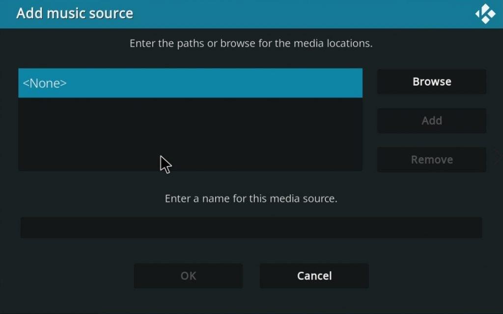 Add Music Source On Kodi