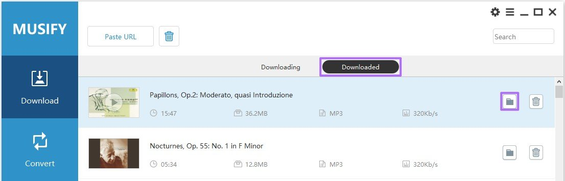 Find The Downloaded Song By Clicking The Folder Icon On The Rear Of The Song Musify