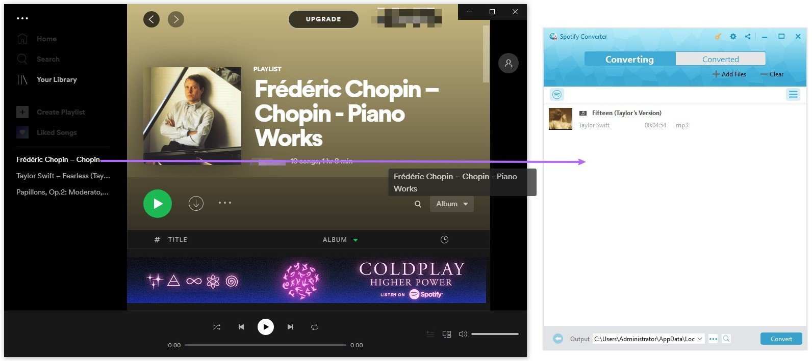 How to Drag Spotify Music To Prof.Drm