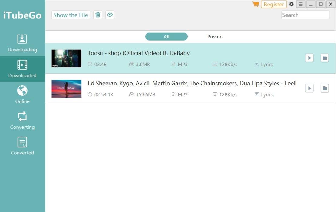 iTubeGo Video Music Downloader