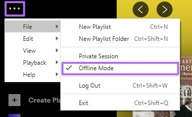 Turn off the Offline Mode
