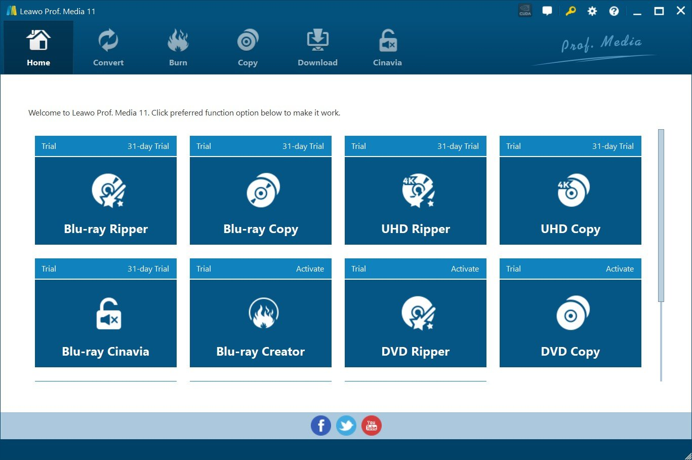 4K Blu-ray Burner Software Leawo Prof. Media
